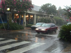 New Orleans weather in the rain