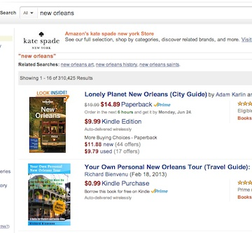 Your Own Personal New Orleans Tour is now #2 for all items New Orleans on Amazon.