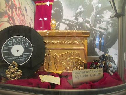 """Louis """"Satchmo"""" Armstrong's ashes at Lake Lawn Cemetery New Orleans."""