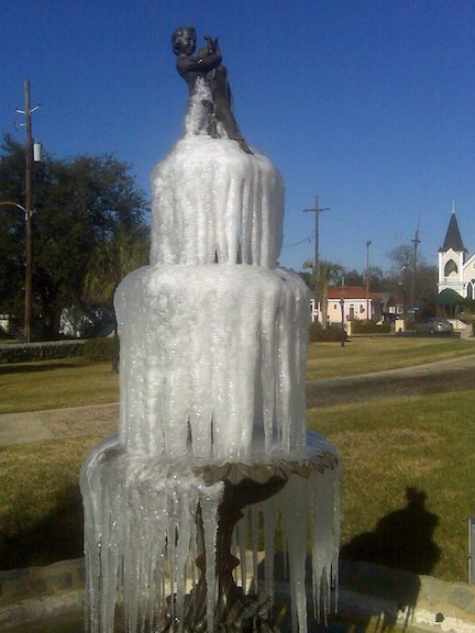 Frozen Fontain in Mid City New Orleans