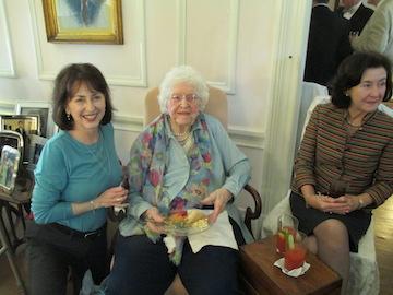 My mom Carolyn Bienvenu at her 100th birthday 2014. Elegance and grace. Beautiful.