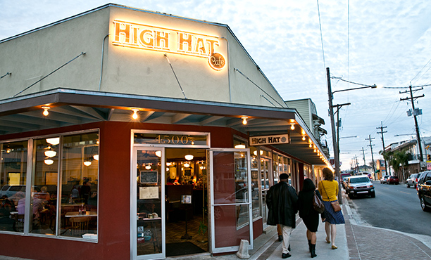 For some good New Orleans style food, good prices, great neighborhood atmosphere, you can't beat the High Hat Cafe in uptown New Orleans.