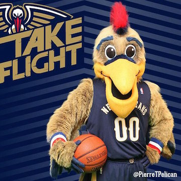 The upgraded version of New Orleans Pelicans Supposedly Less Scary Mascot Pierre.