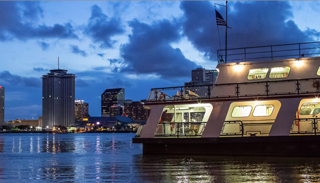The New Orleans Algiers Ferry -- crossing the Mississippi New Orleans style.