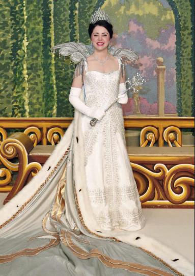 Gigi Bienvenu queen of the New Orleans Mardi Gras Ball Acheans