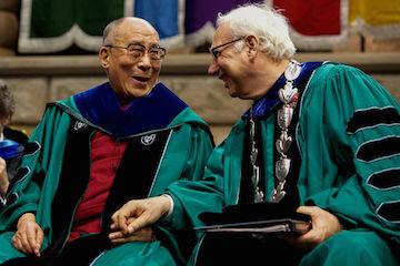 Former Tulane president Scott Cowen with the Dalai Lama.