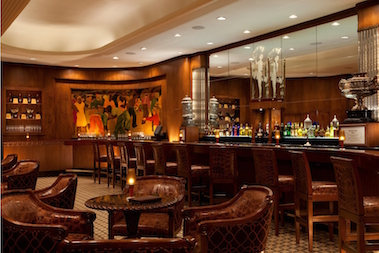 The beautiful Sazereac Bar at the Roosevelt Hotel in New Orleans.