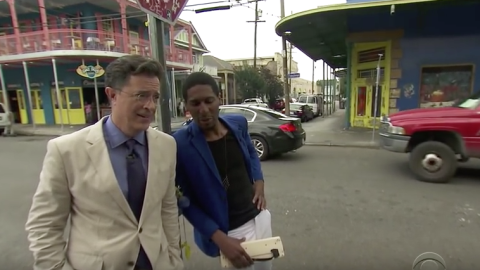 stephen colbert john batiste in new orleans